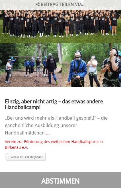 Sparkassenstiftung Starkenburg - Projekt